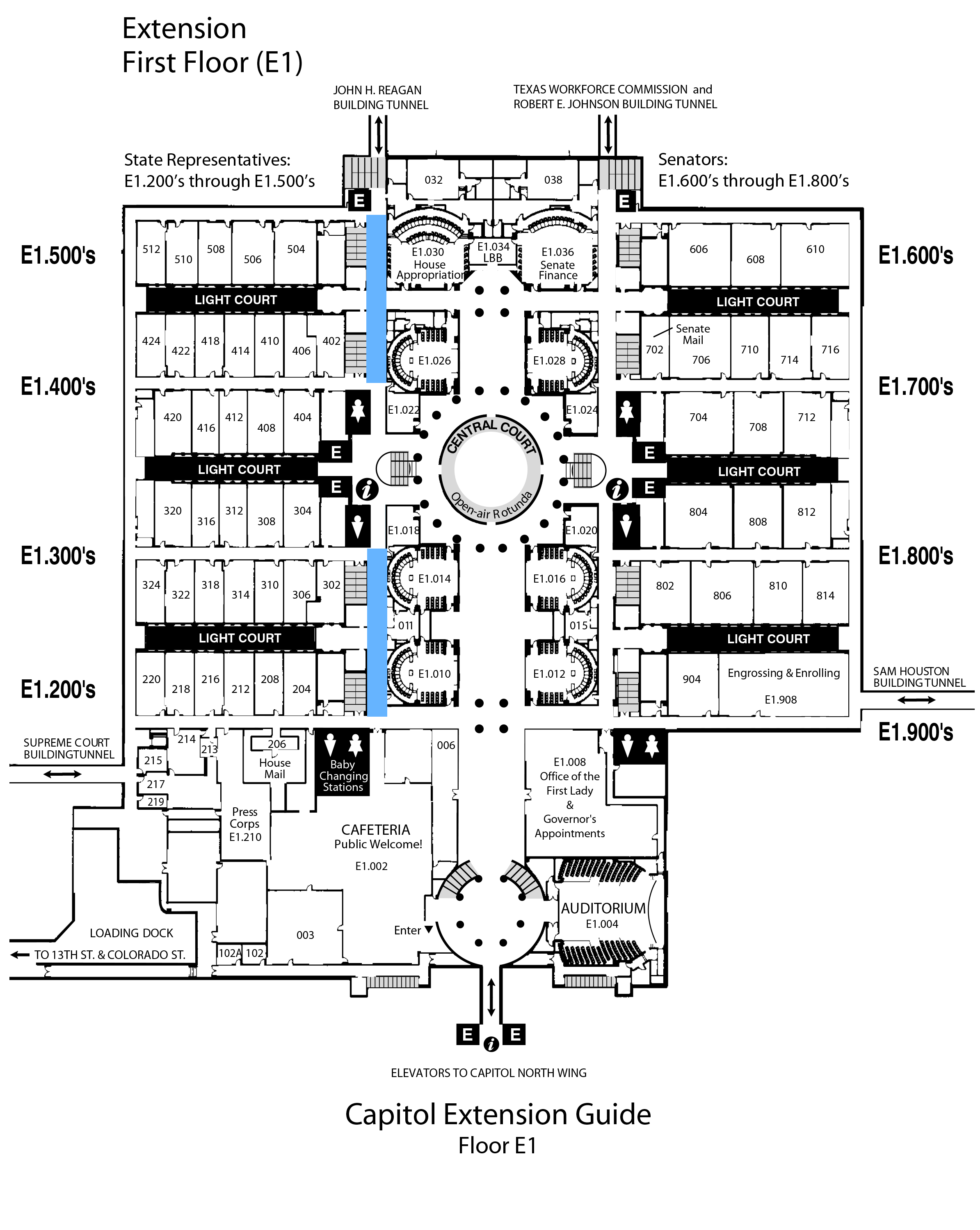 Texas Capitol Map Texas House of Representatives   House Witness Registration